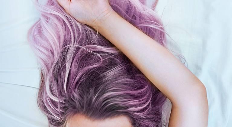 Lila haare blau lila haare