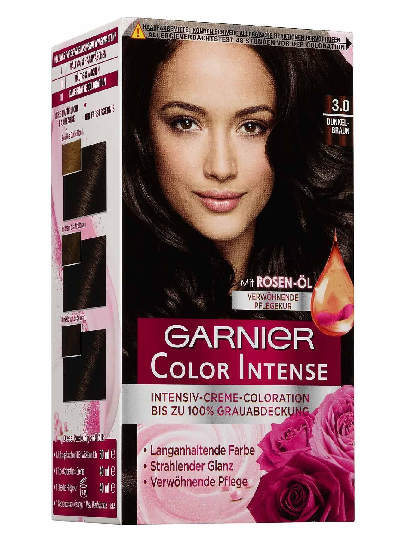 Haarfarben dunkelbraun bis schwarz