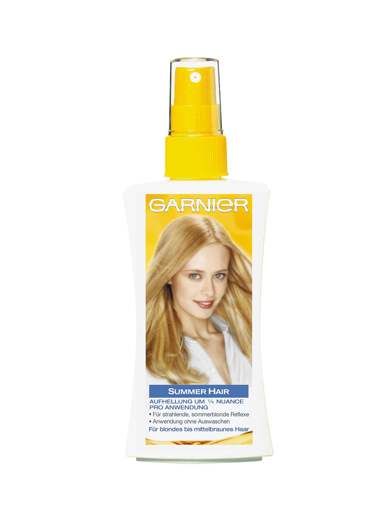 Summer-Hair-Spray-Christal-Blond-150ml-Vorderseite-Garnier-DE-gr