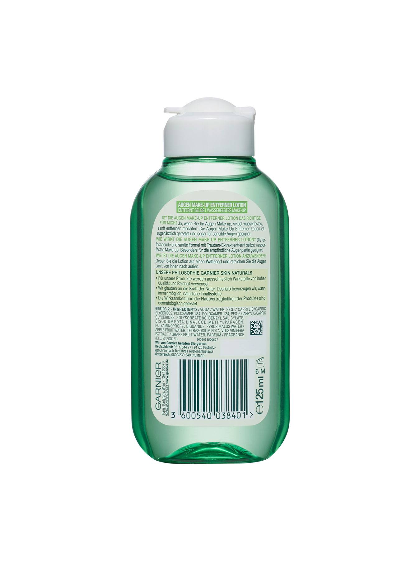Augen-Make-up-Entferner-Lotion-Clean-and-Fresh-Mizellen-Reinigungswasser-125ml-Rueck-Garnier-DE-gr