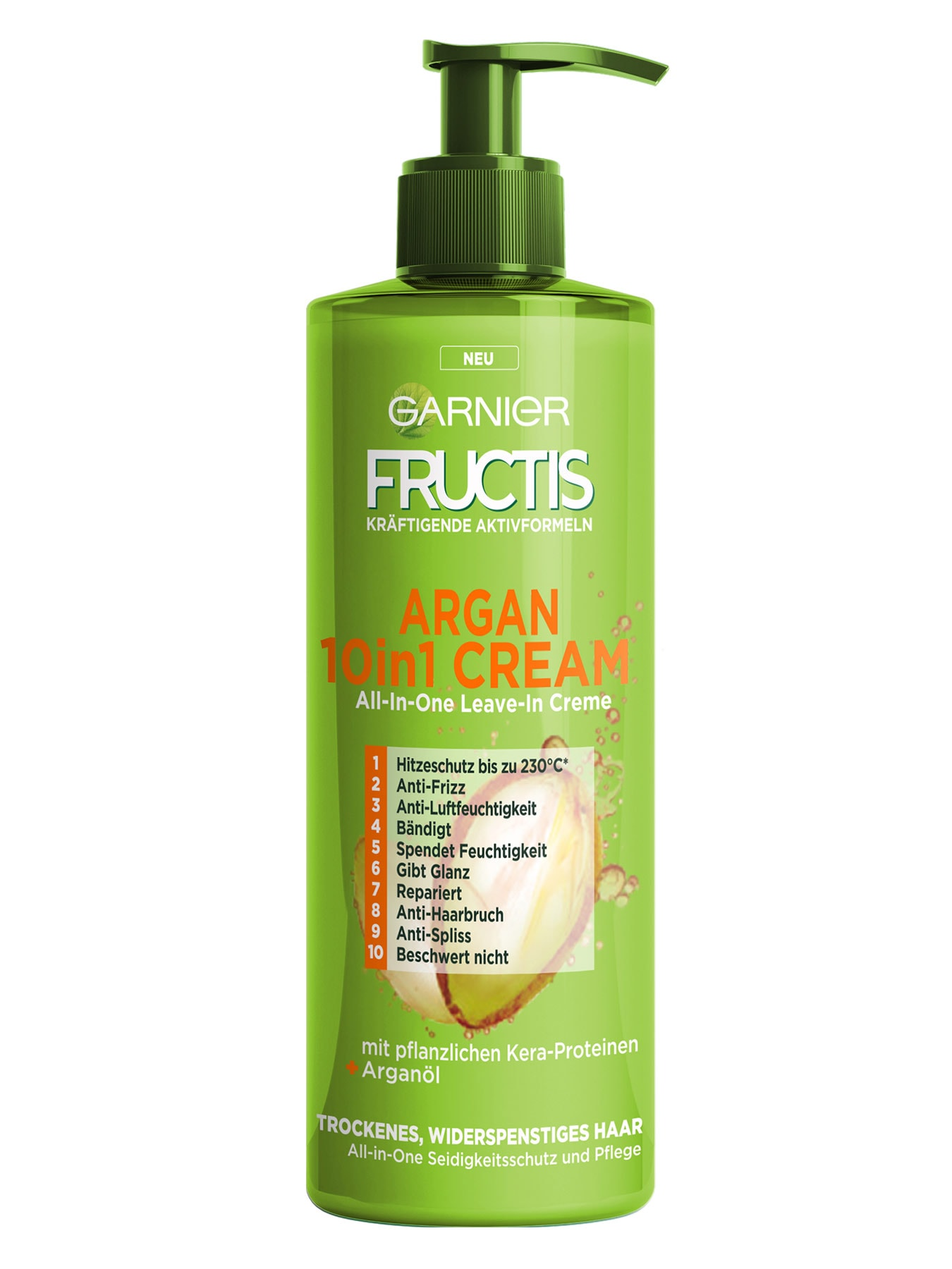 10in1-Cream-Fructis-Argan-Silky-Shiny-400ml-Vorderseite-Garnier-Deutschland-gross