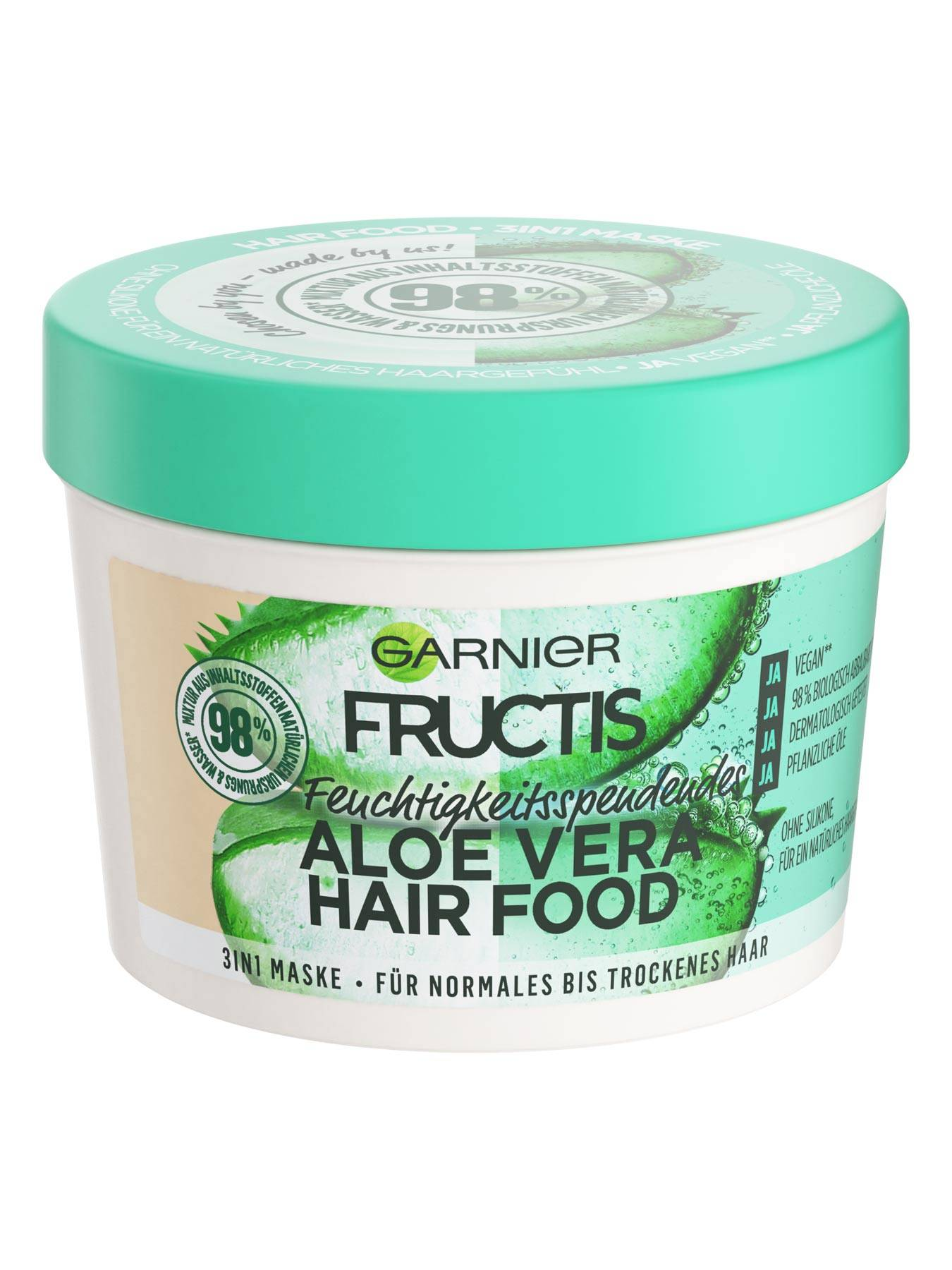 3in1-Maske-Fructis-Aloe-Vera-Hair-Food-390ml-Vorderseite-Garnier-Deutschland-gross