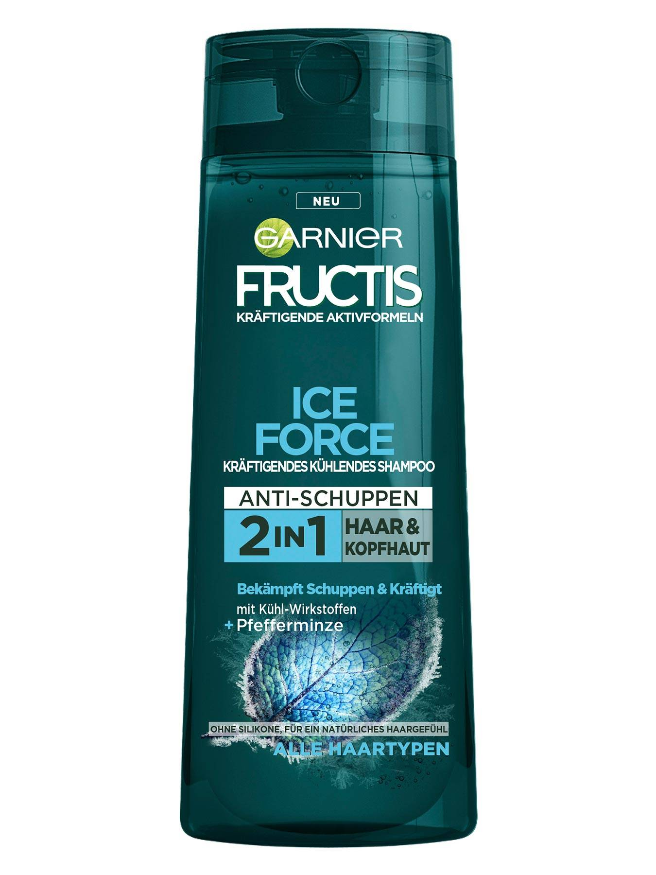 Kraeftigendes-Shampoo-Pfefferminze-Fructis-Ice-Force-250ml-Vorderseite-Garnier-Deutschland-gross
